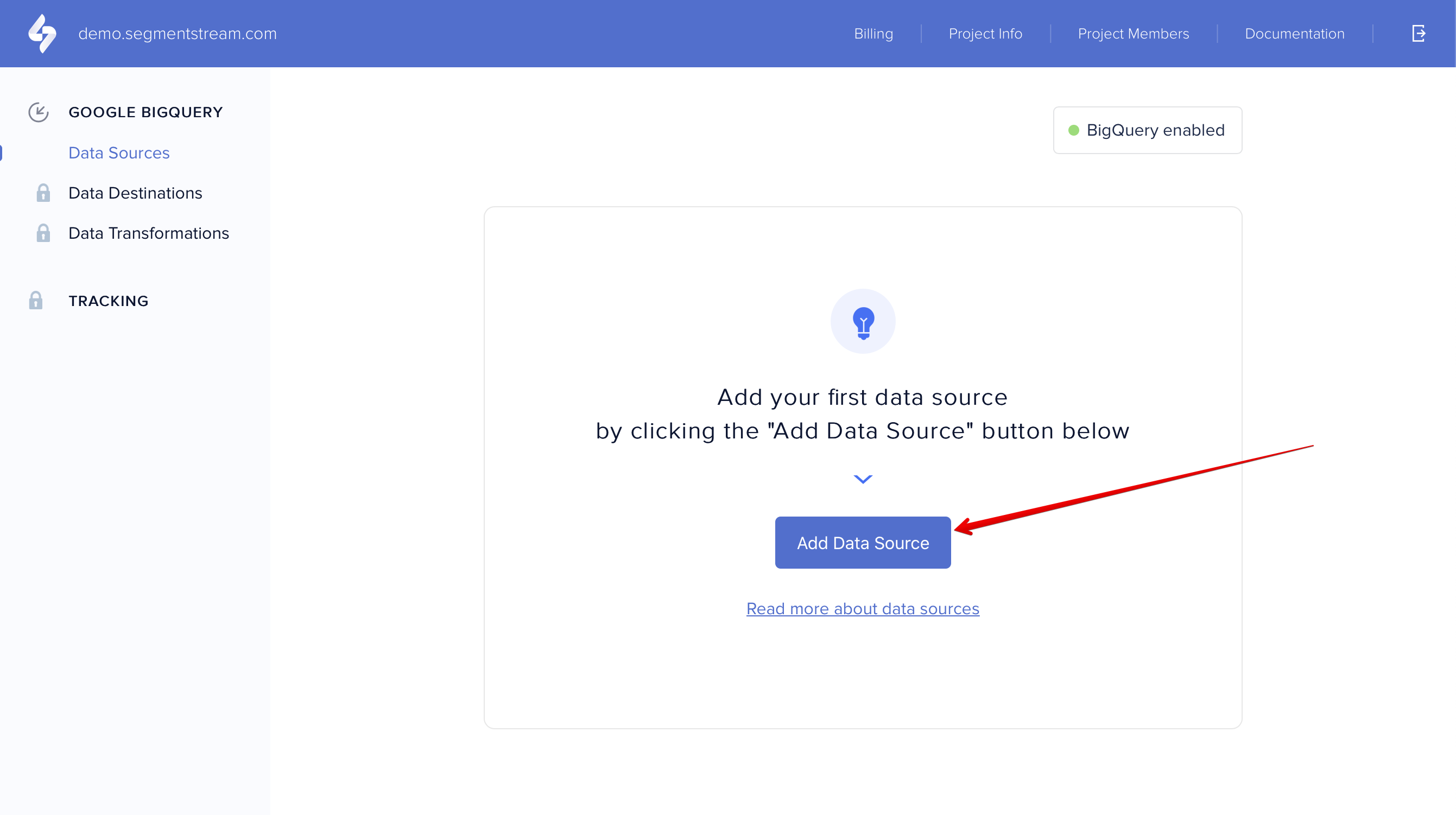 Add BigQuery data source