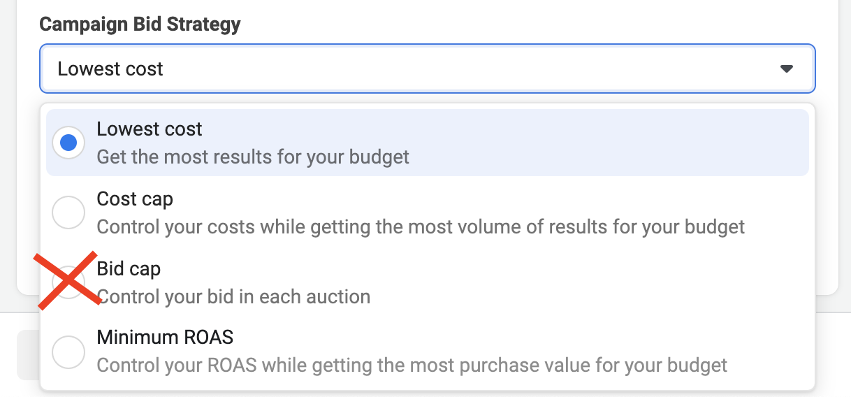 Facebook Ads - Bid Strategy