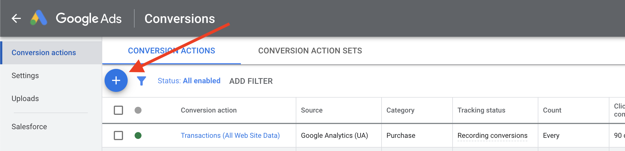 Google Ads - Add Conversion