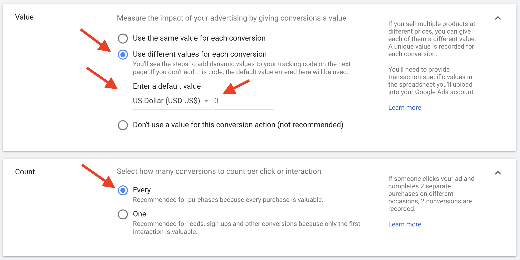 Google Ads - Creating Conversion